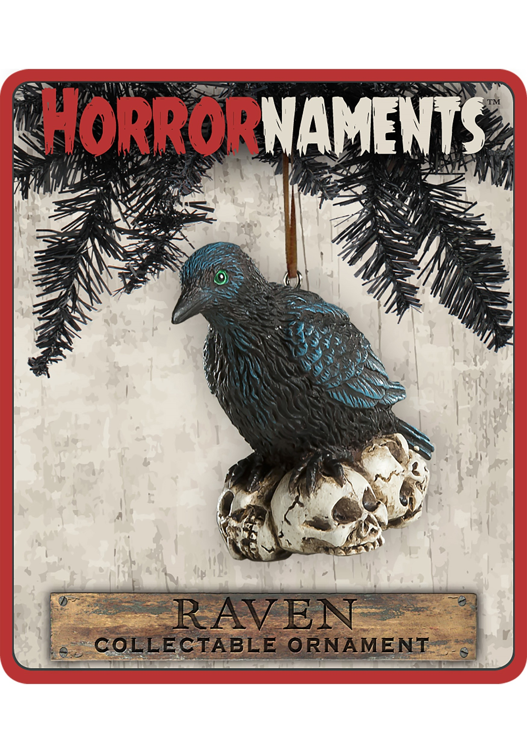 Horrornaments Molded Raven Ornament