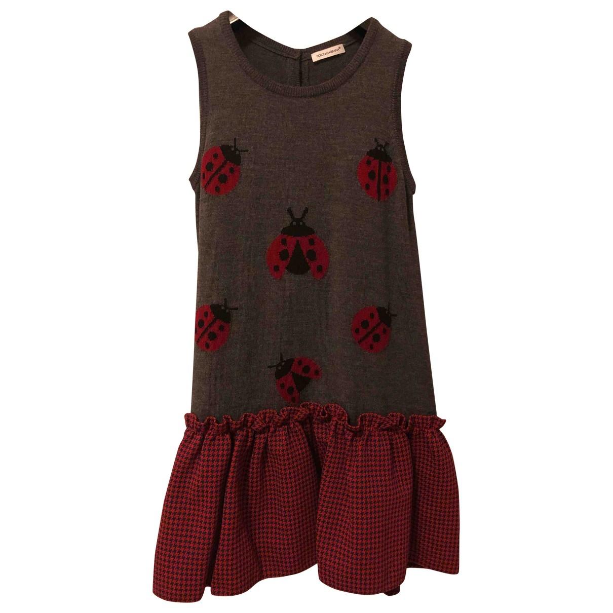 Dolce & Gabbana - Robe    pour enfant en cachemire - gris