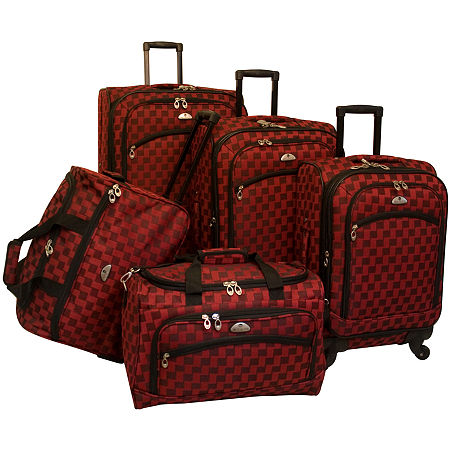 American Flyer Madrid 5-pc. Spinner Upright Luggage Set, One Size , Red