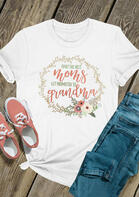 Only The Best Moms Get Promoted To Grandma T-Shirt Tee - White