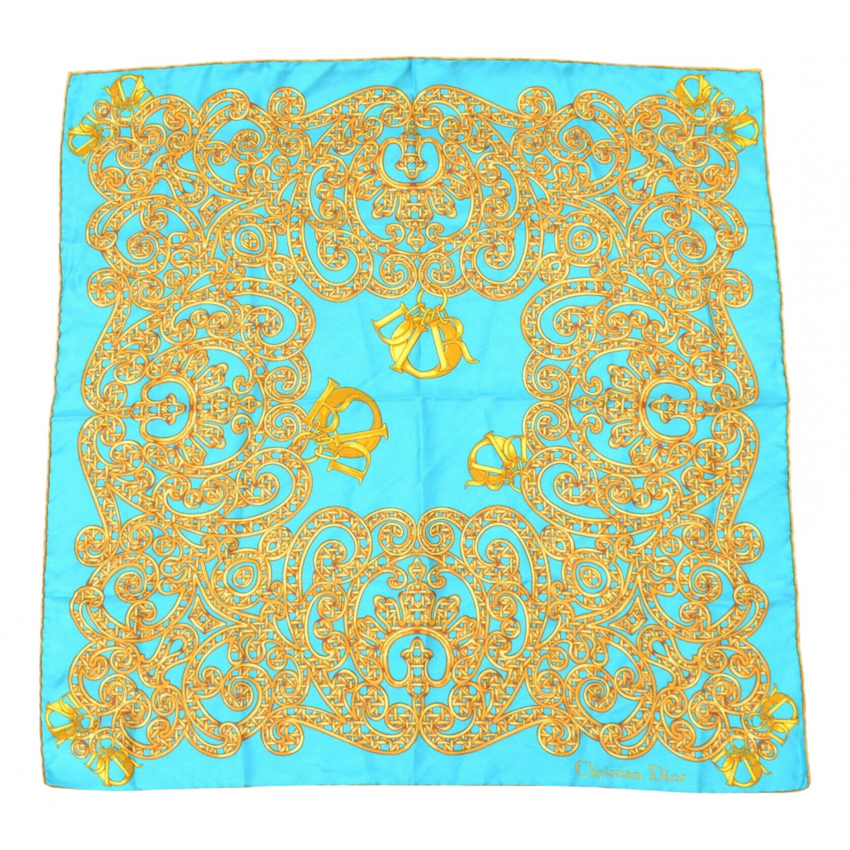 Dior - Carre   pour femme en soie - bleu
