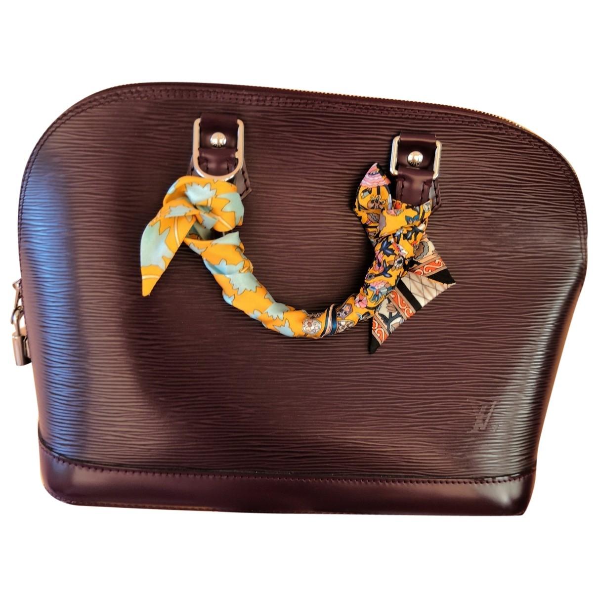 Louis Vuitton Alma Handtasche in  Lila Leder