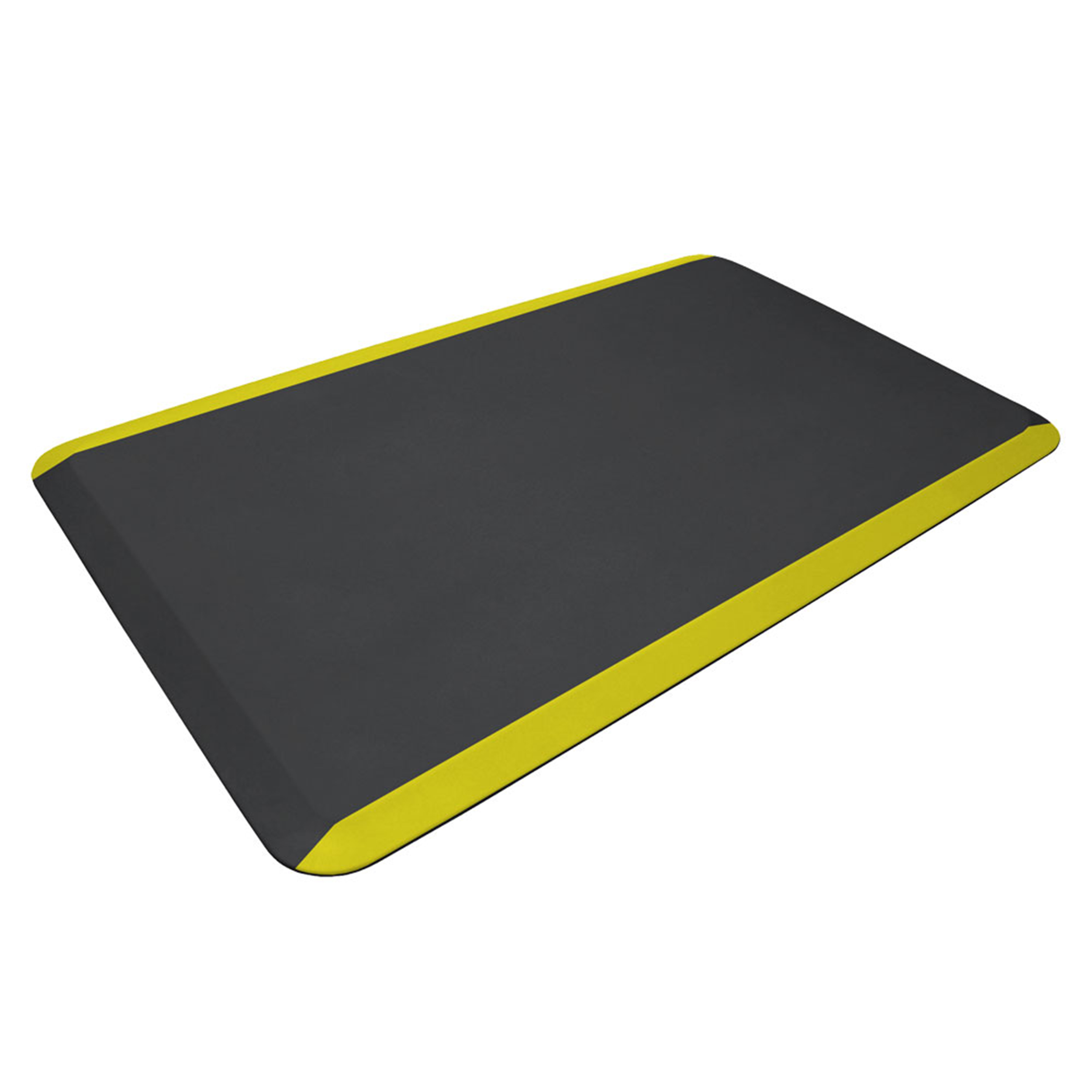 Eco-Pro Commercial Mat, Black with Yellow Safety Stripe, 24