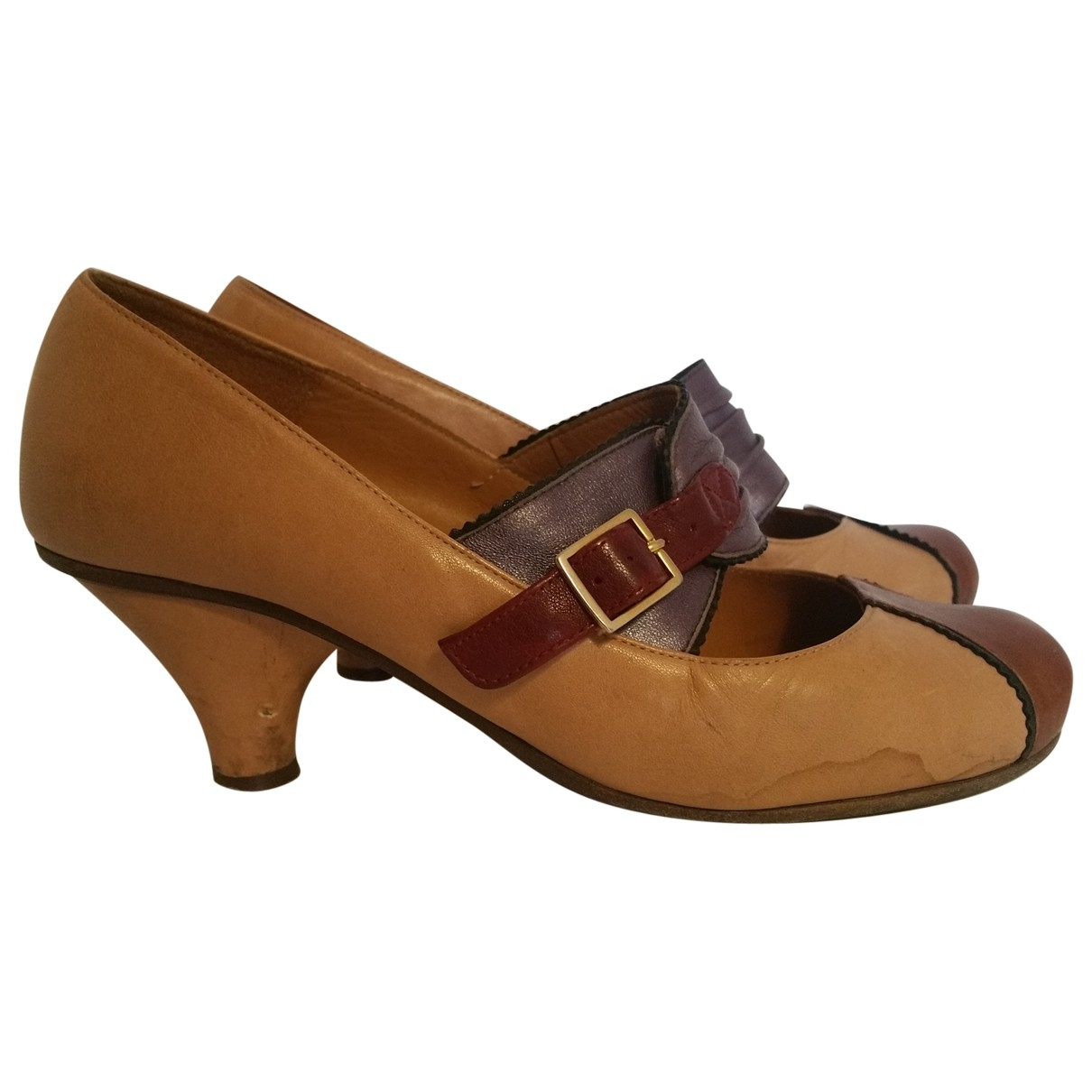 Chie Mihara \N Pink Leather Heels for Women 38 EU