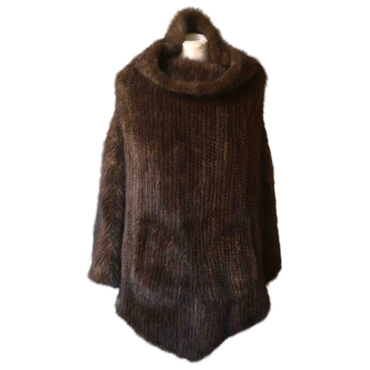 - Manteau   pour femme en vison - multicolore