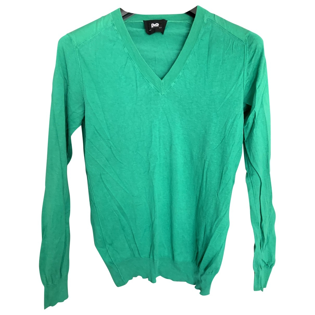 D&g \N Pullover.Westen.Sweatshirts  in  Gruen Seide
