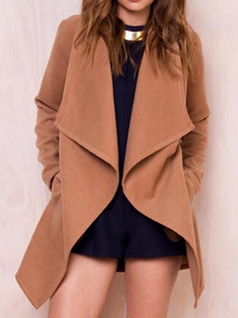Ericdress Wrapped Loose Mid-Lengt Women's Overcoat