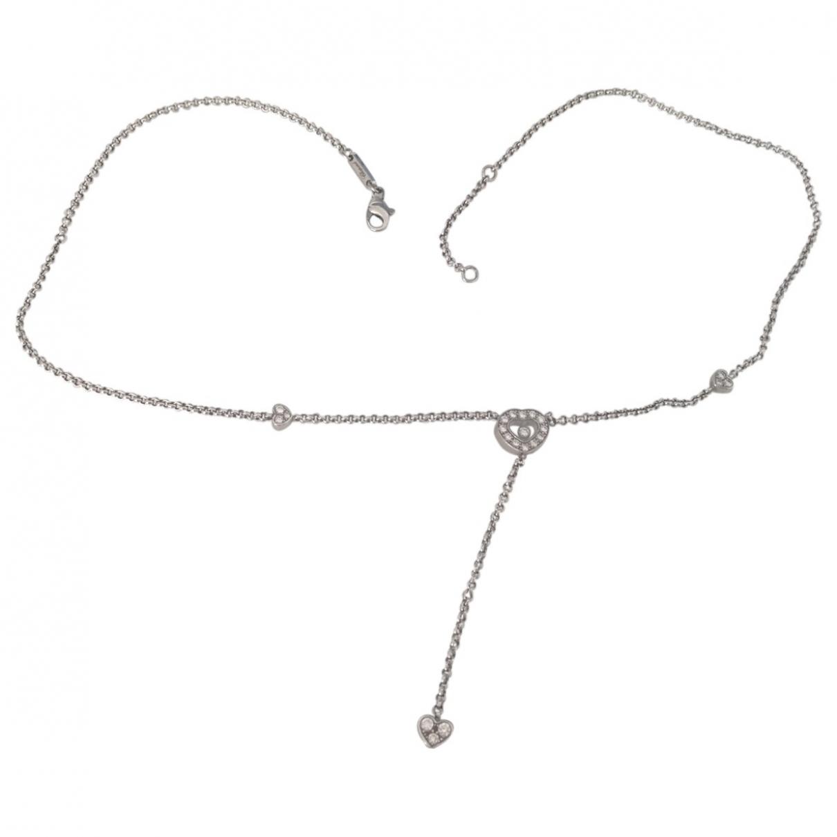 Chopard - Pendentif Happy Diamonds pour femme en or blanc - argente
