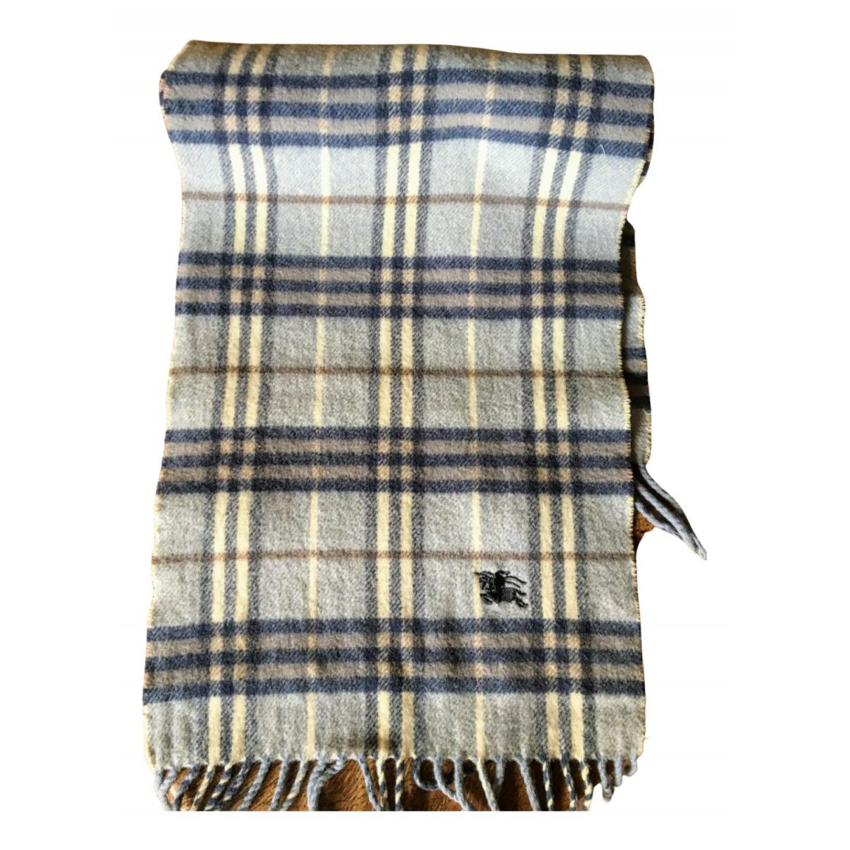 Burberry - Foulard   pour femme en laine - bleu
