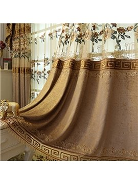 Vintage Embroidery Hollowed-out Decoration Blackout Curtains for Living Room Custom 2 Panels Drapes No Pilling No Fading No off-lining
