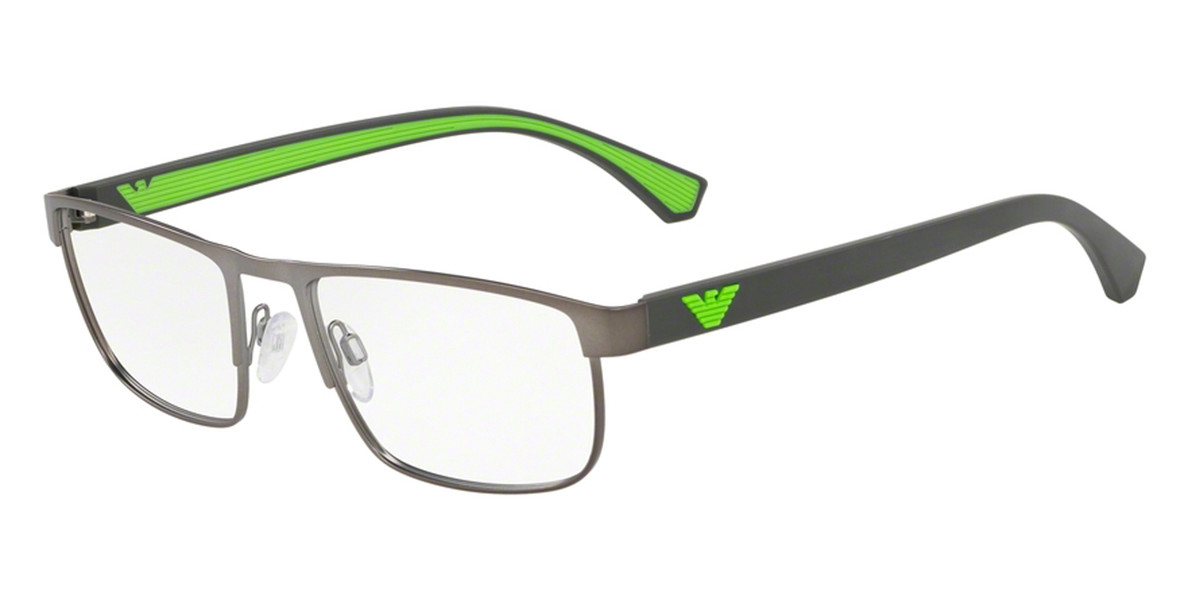 Emporio Armani EA1086 3266 Men's Glasses Grey Size 53 - Free Lenses - HSA/FSA Insurance - Blue Light Block Available