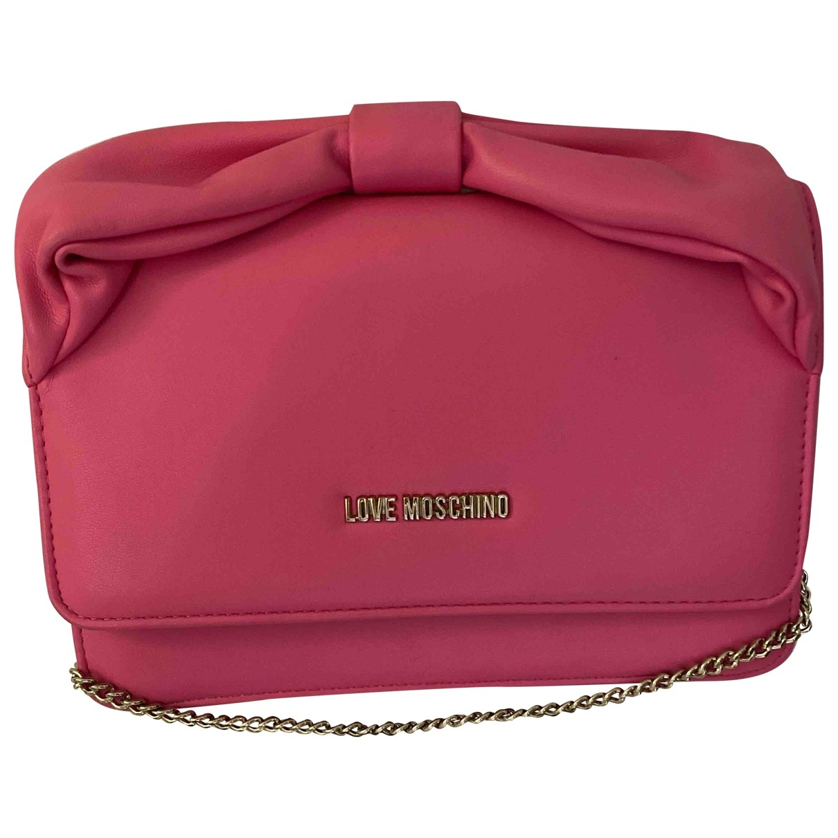 Moschino Love \N Clutch in Polyester