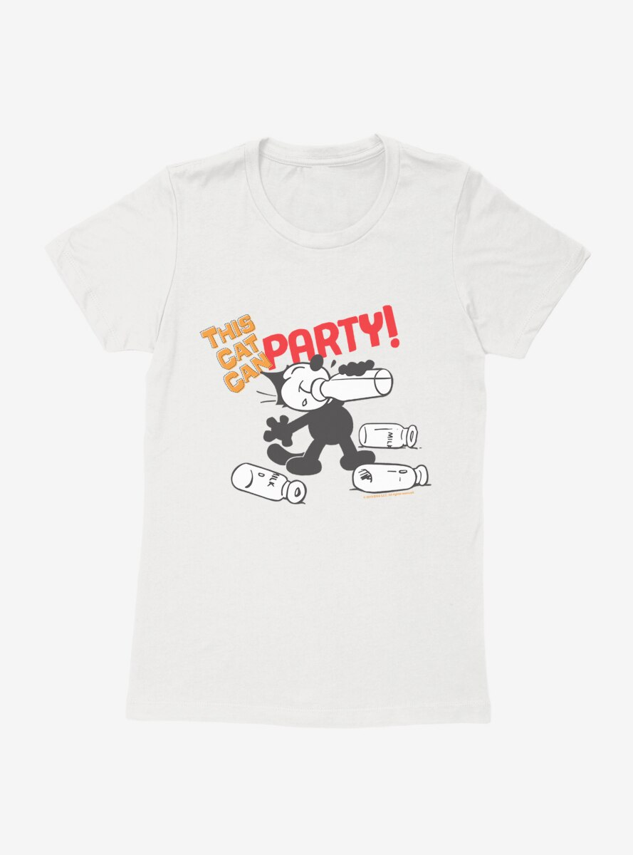 Felix The Cat This Cat Can Party Womens T-Shirt