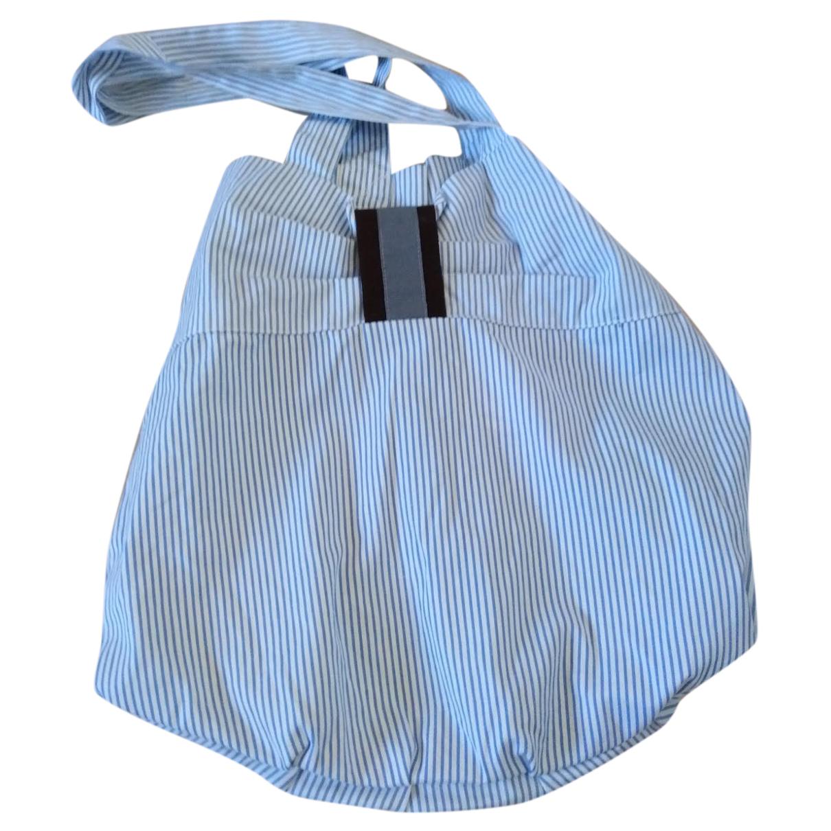 Non Signé / Unsigned N Blue Cotton handbag for Women N