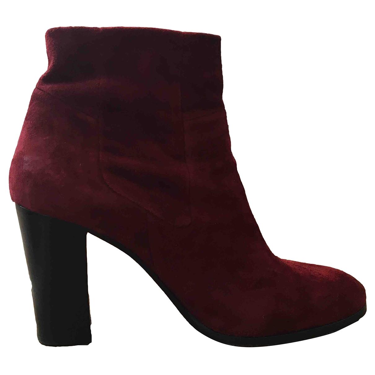 Stouls - Boots   pour femme en suede - rouge