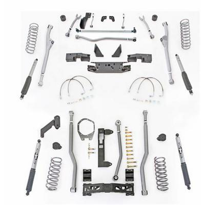 Rubicon Express 4.5 Inch Extreme Duty Radius Front/Rear 3-Link Long Arm Lift Kit with Mono-Tube Shocks - JKR344M
