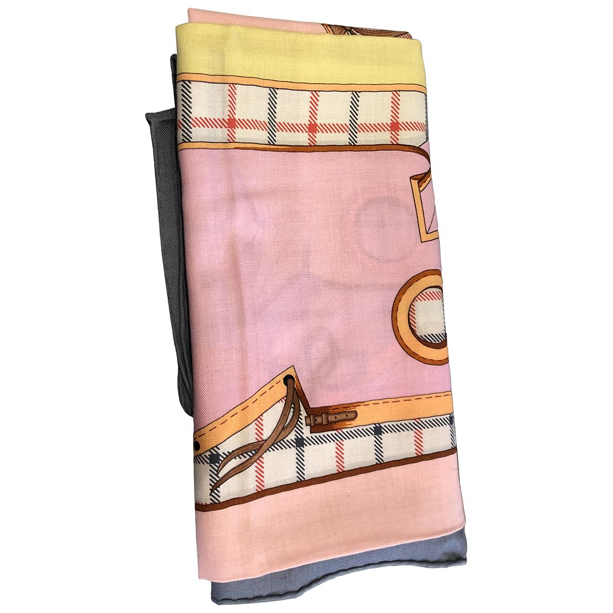 Hermes - Foulard Chale 140 pour femme en cachemire - anthracite