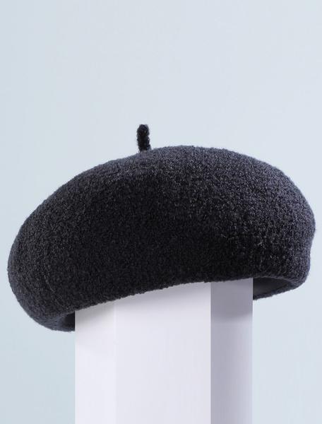 Milanoo Wool Beret Hat Retro Bows Royal Hair Accessories Women Vintage Headpieces Halloween