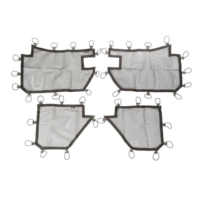 Rugged Ridge 13579.52 Tube Door Cover Kit, Full Set, Black; 07-18 Jeep Wrangler JKU Jeep Wrangler 2007-2018