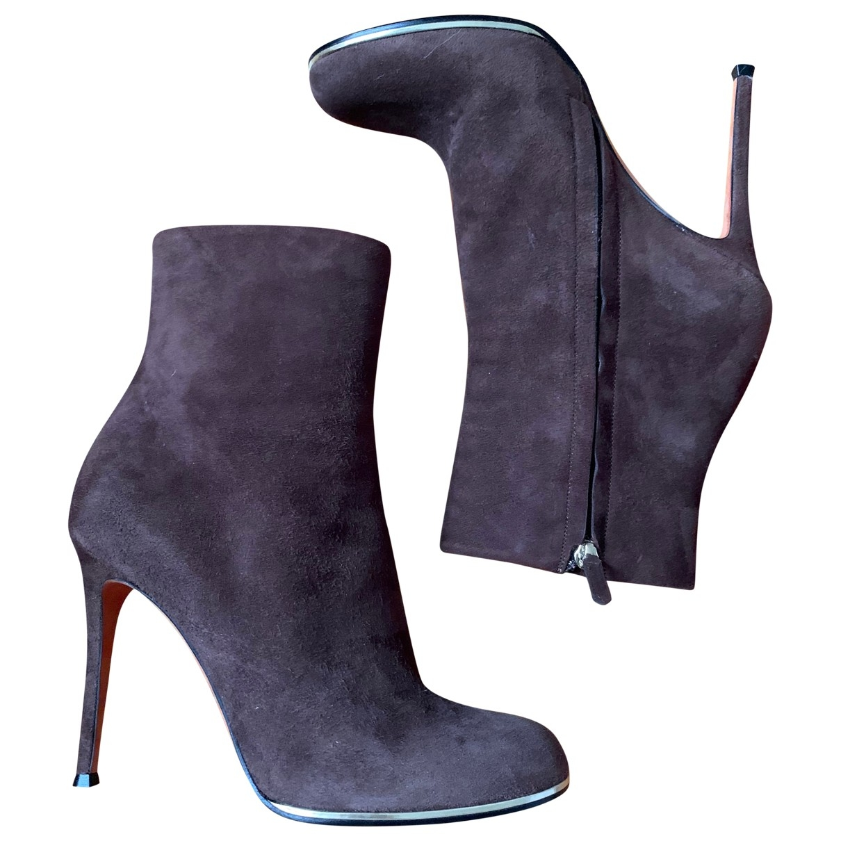 Givenchy - Boots   pour femme en suede - marron