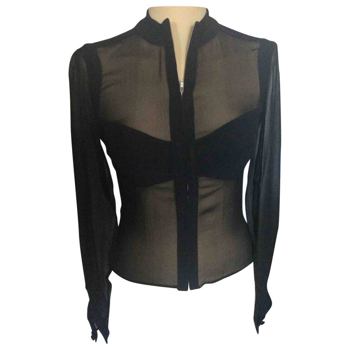 Autre Marque N Black Silk  top for Women 40 FR