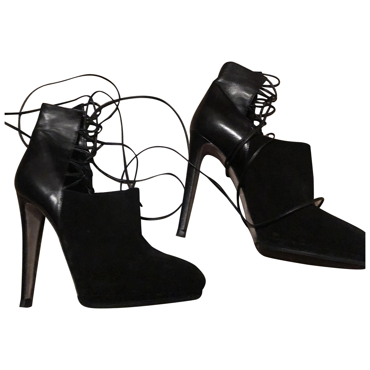 Sergio Rossi \N Black Leather Heels for Women 38 EU