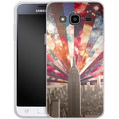 Samsung Galaxy J3 (2016) Silikon Handyhuelle - Superstar New York von Bianca Green