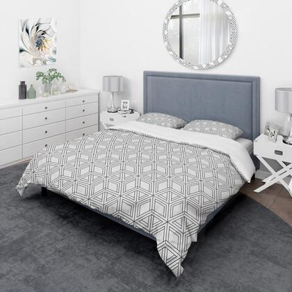BED18874-K Designart 'Geometric Pattern In Op Art Design' Scandinavian Duvet Cover