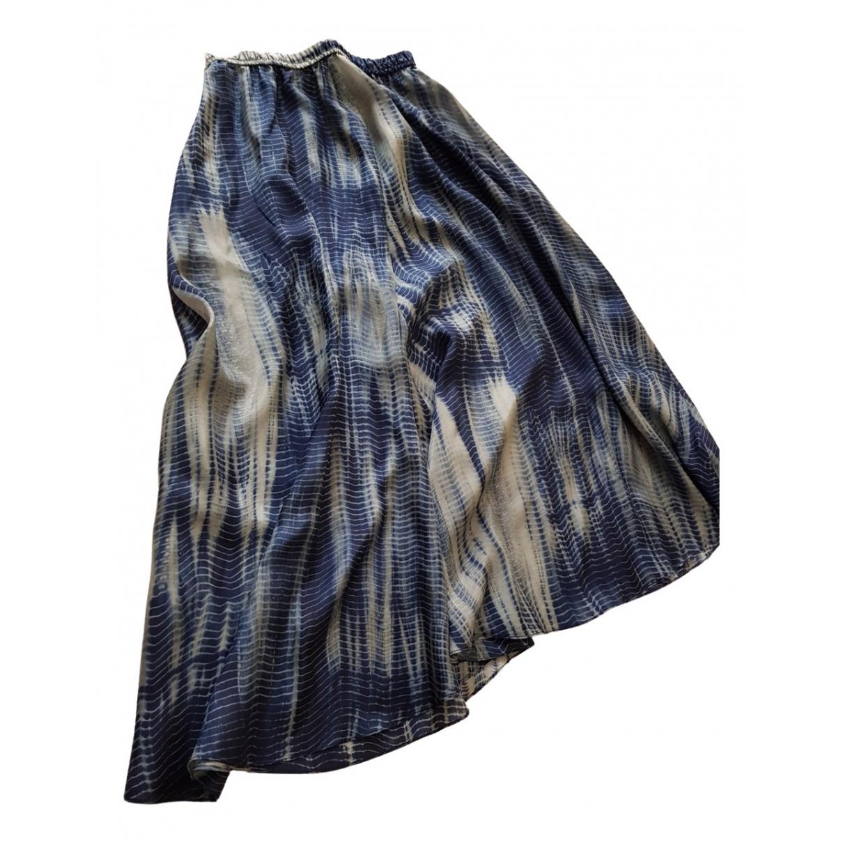 Gerard Darel - Jupe   pour femme en soie - bleu