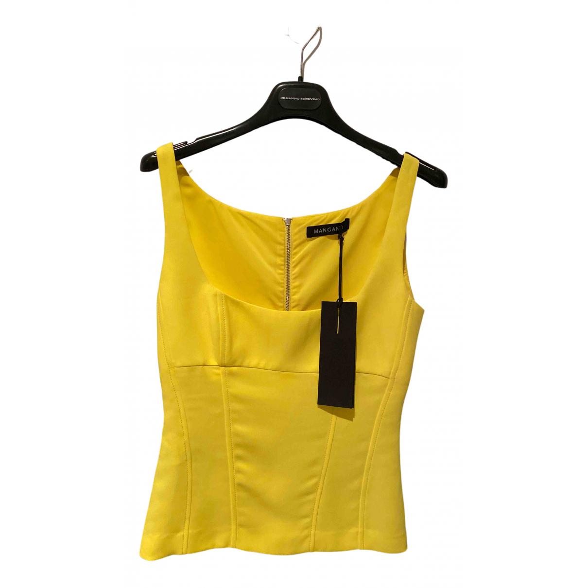 Mangano - Top   pour femme - jaune