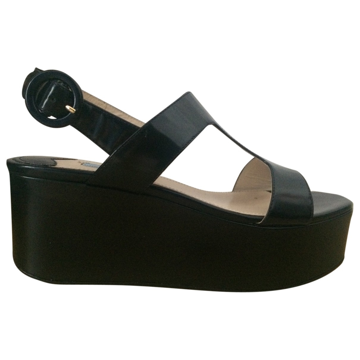 Prada \N Black Patent leather Sandals for Women 39 EU
