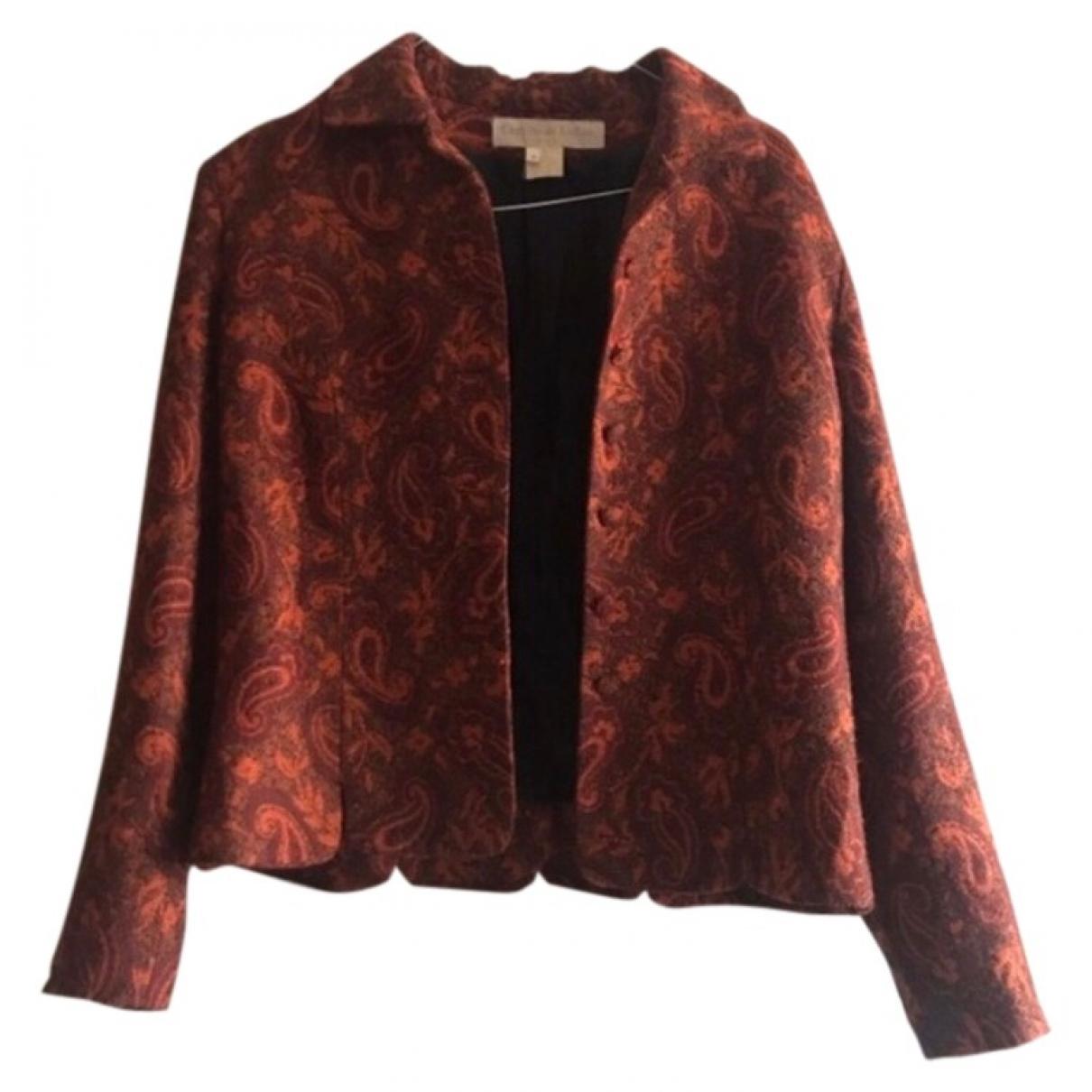 Non Signé / Unsigned \N Orange Cotton jacket for Women 36 FR