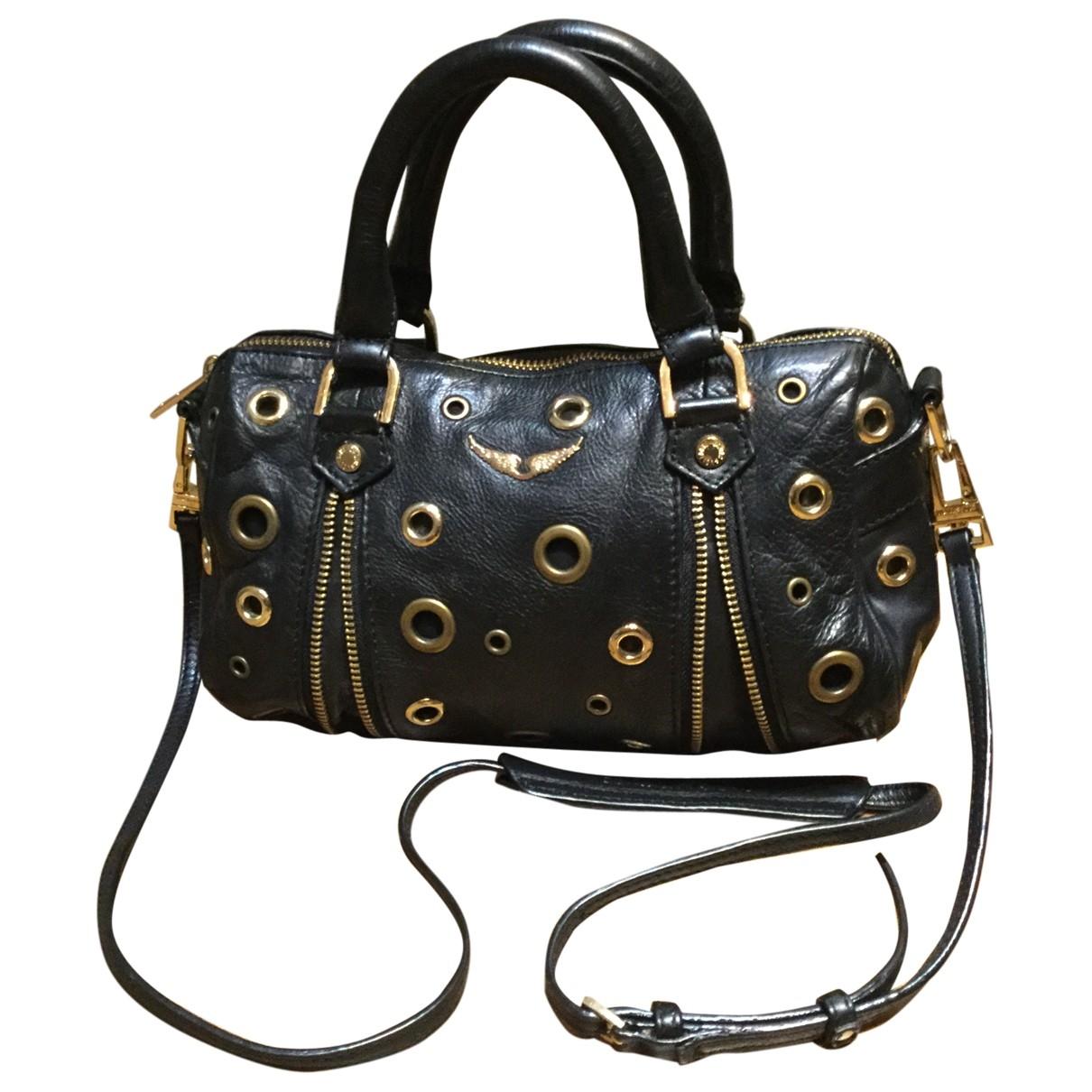 Zadig & Voltaire Sunny Handtasche in  Schwarz Leder