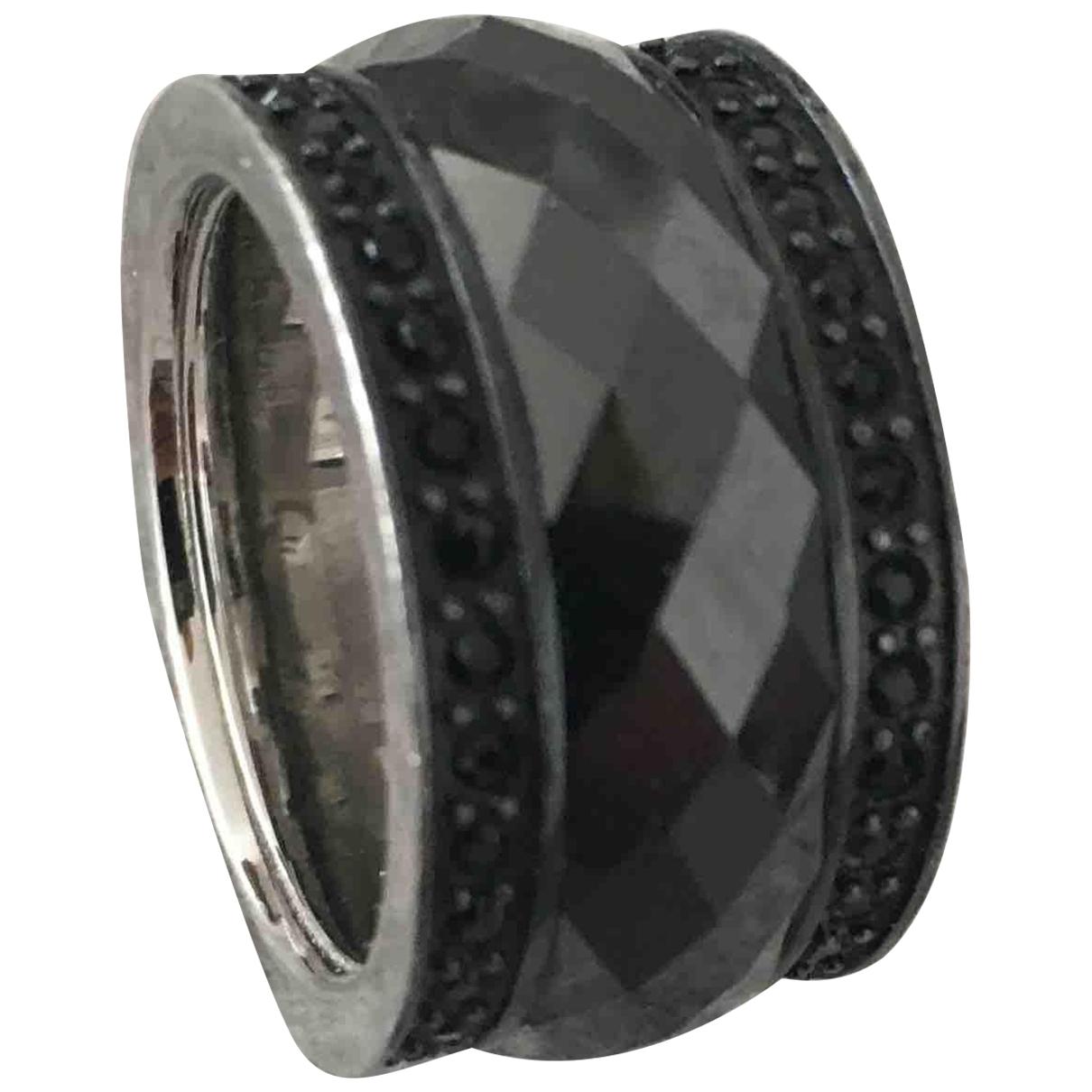 Giorgio Armani \N Ring in  Schwarz Metall