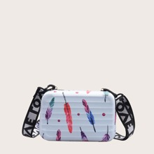 Girls Feather Graphic Box Bag