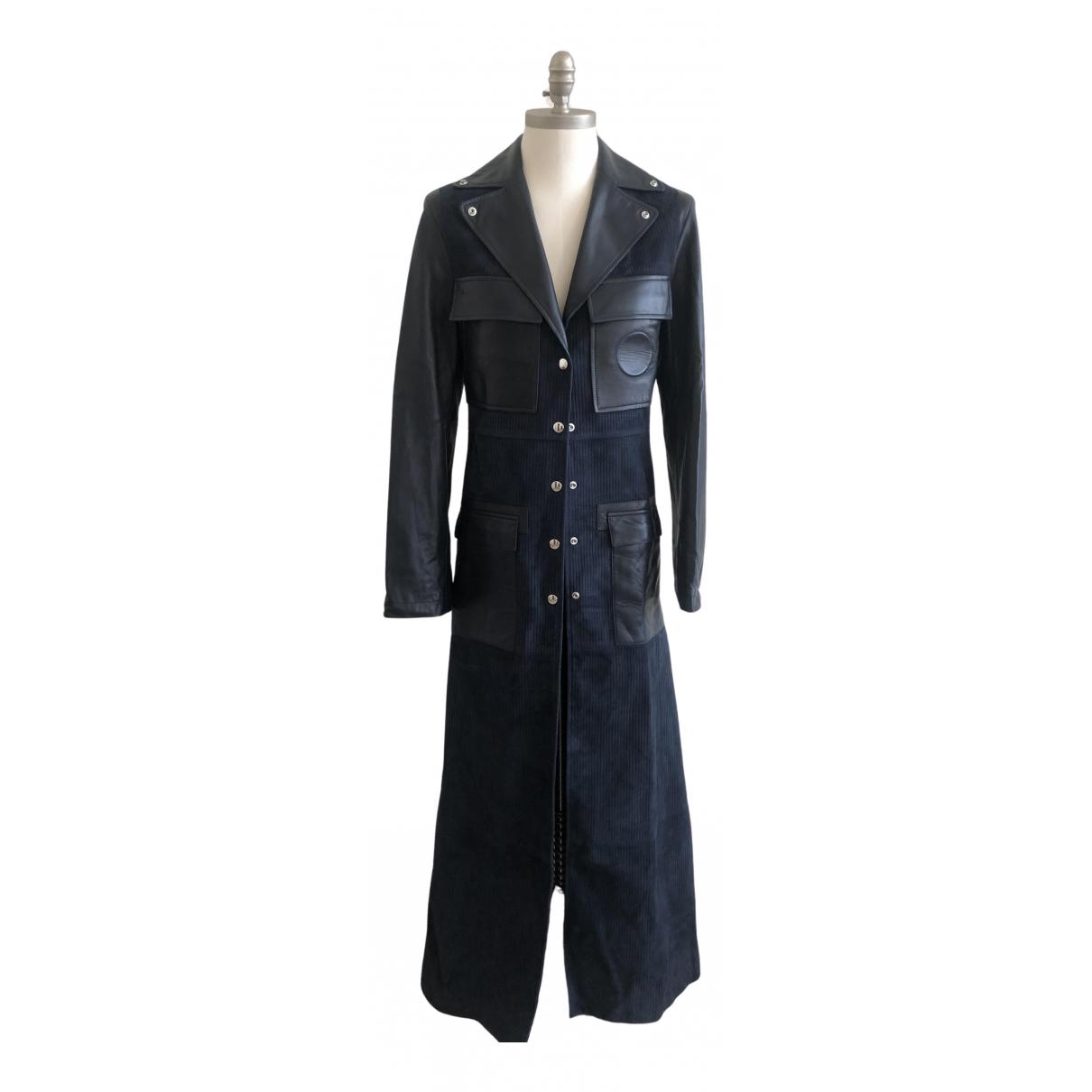 Chloe - Manteau   pour femme en cuir - marine