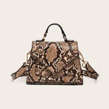 Handtasche mit Schlangenleder Muster