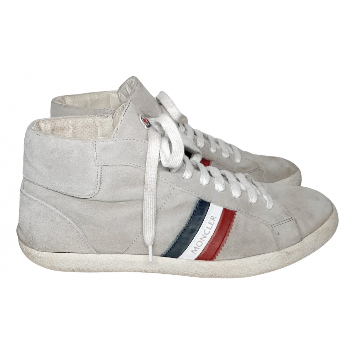 Moncler \N Grey Suede Trainers for Men 43 EU