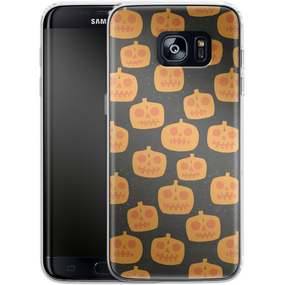 Samsung Galaxy S7 Edge Silikon Handyhuelle - Pumpkin Pattern von caseable Designs