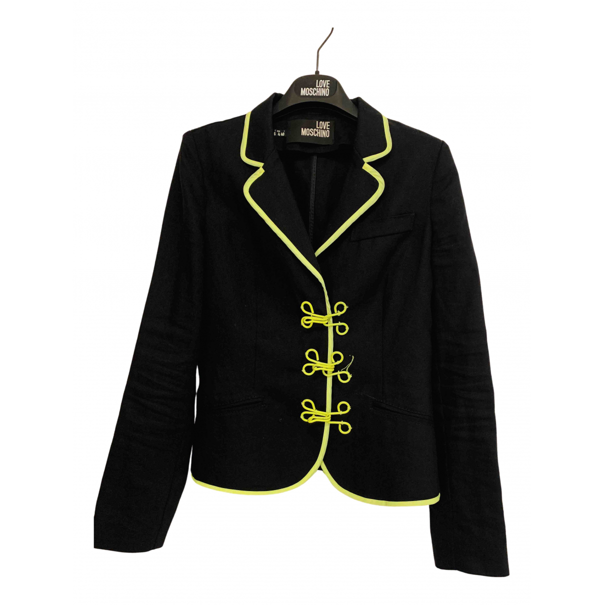 Moschino Love - Veste   pour femme en lin - noir