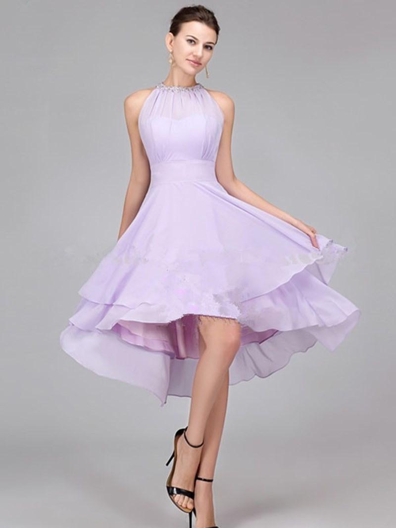 Ericdress Charming Beading Asymmetry Bridesmaid Dress