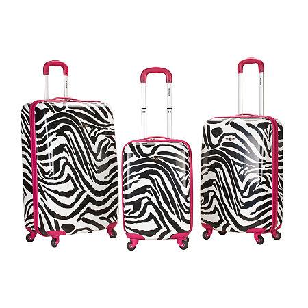 Rockland Safari 3-pc. Hardside Luggage Set, One Size , Pink