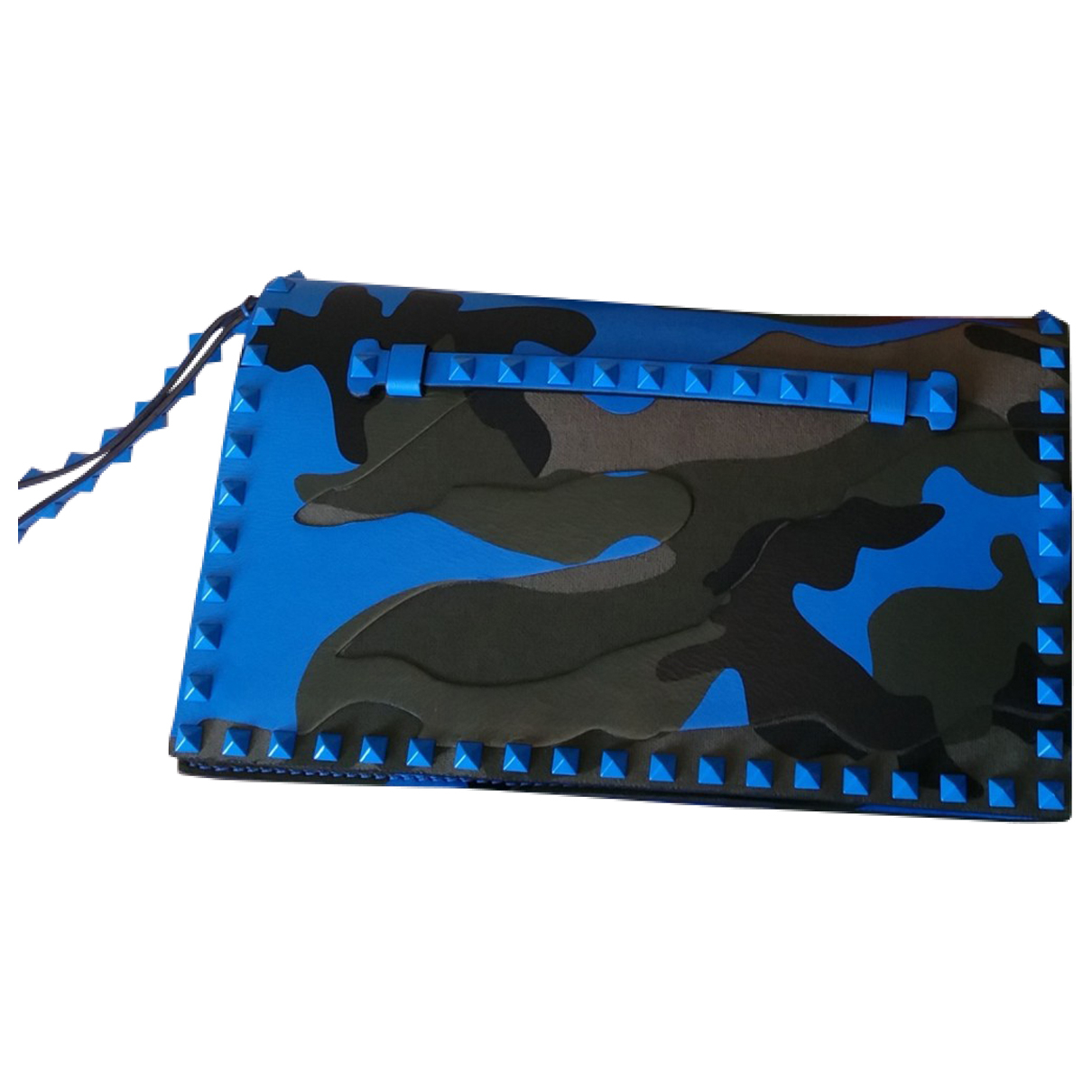 Valentino Garavani \N Clutch in  Blau Leder