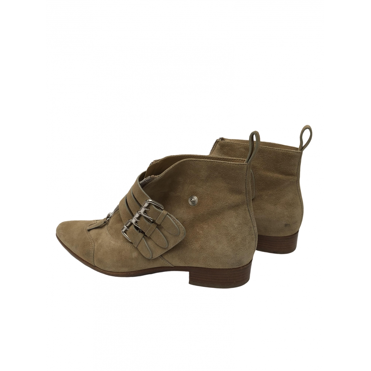 Tabitha Simmons \N Beige Suede Ankle boots for Women 41 IT