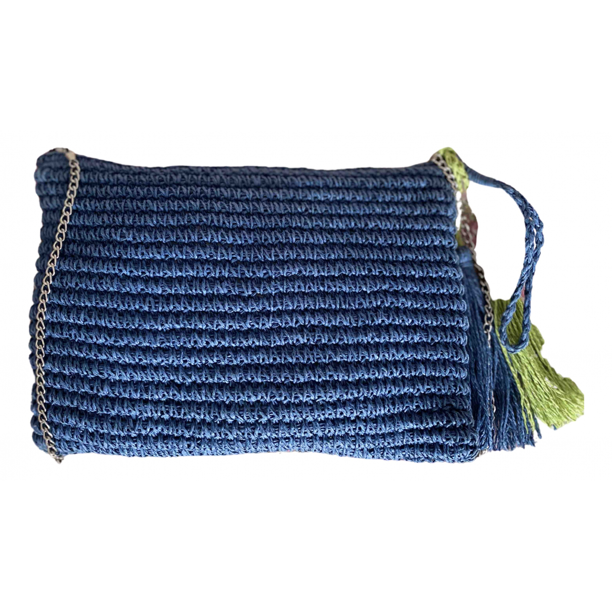 Non Signe / Unsigned \N Clutch in  Blau Leinen