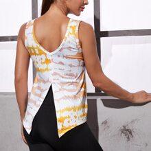 Sports T-Shirt mit Batik und Schlitz hinten