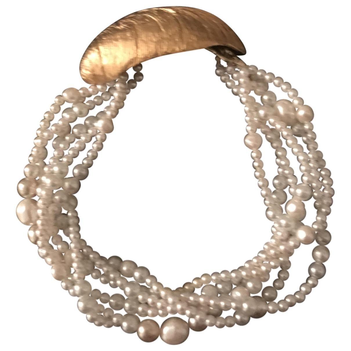 Paul & Joe - Collier   pour femme en perles - blanc