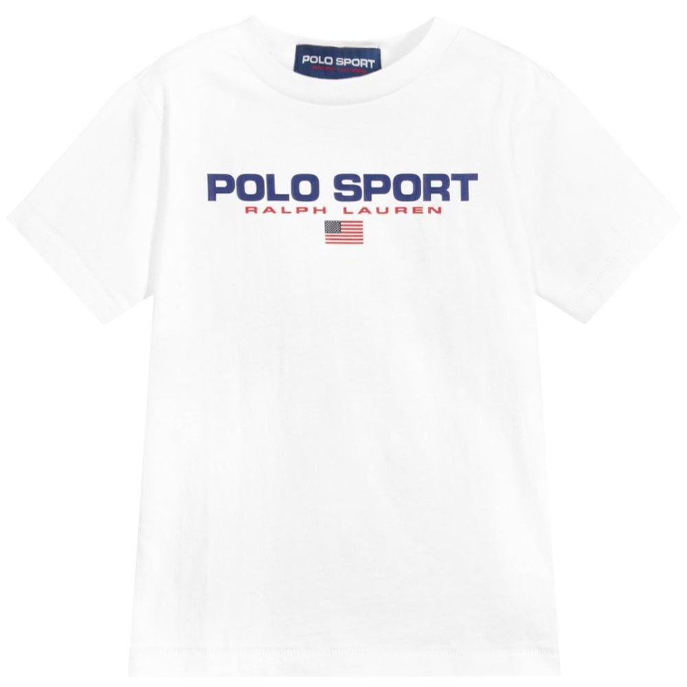 Ralph Lauren Polo Sport T-Shirt White Size: L (14-16 YEARS), Colour: WHITE