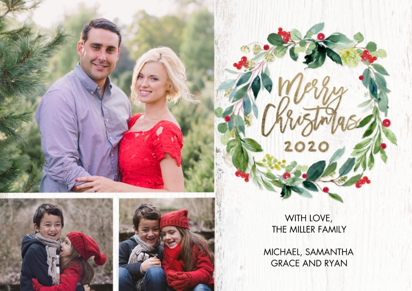 Christmas Photo Cards 5x7 Cards, Premium Cardstock 120lb with Elegant Corners, Card & Stationery -Christmas 2020 Winterberries by Tumbalina