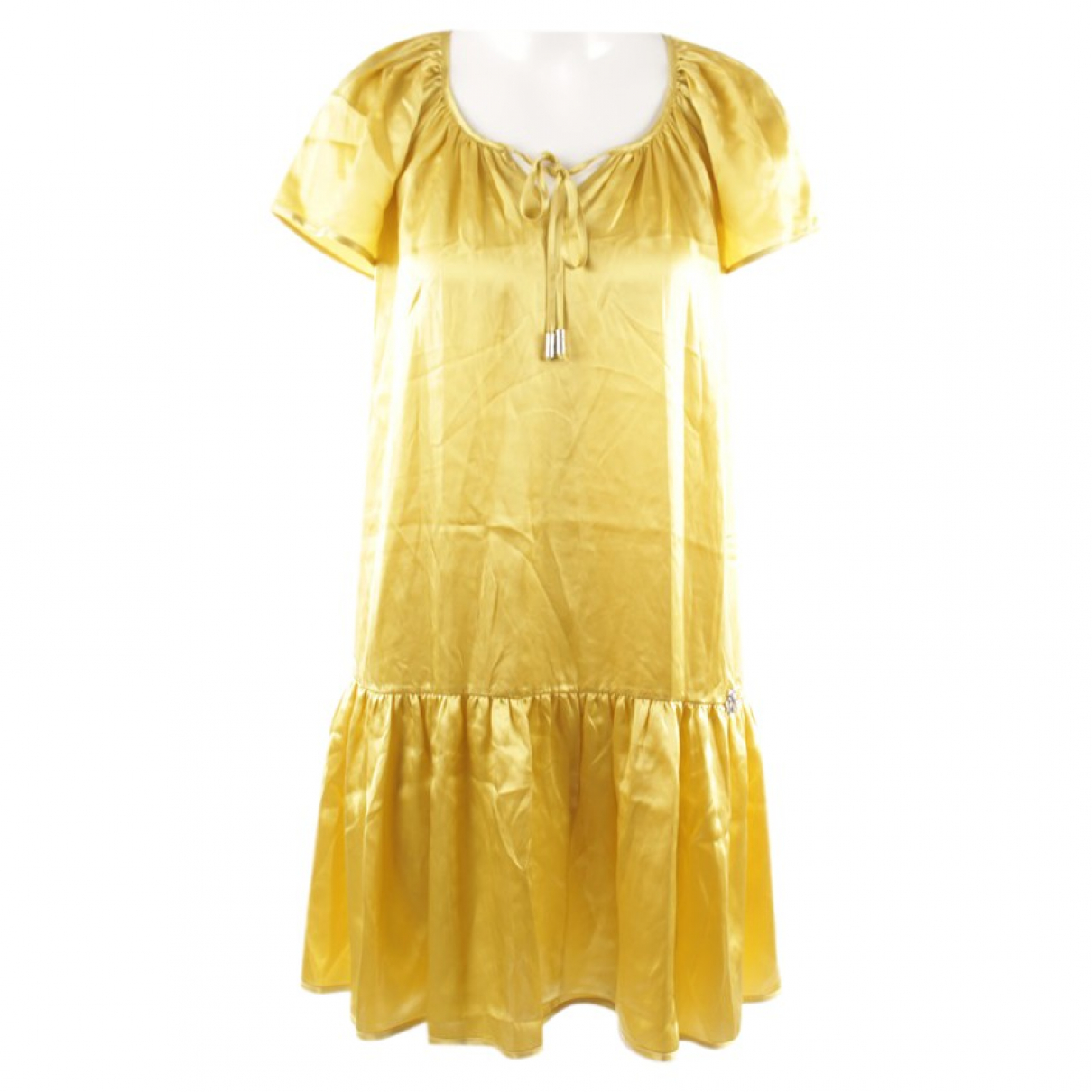 John Galliano - Robe   pour femme en soie - jaune